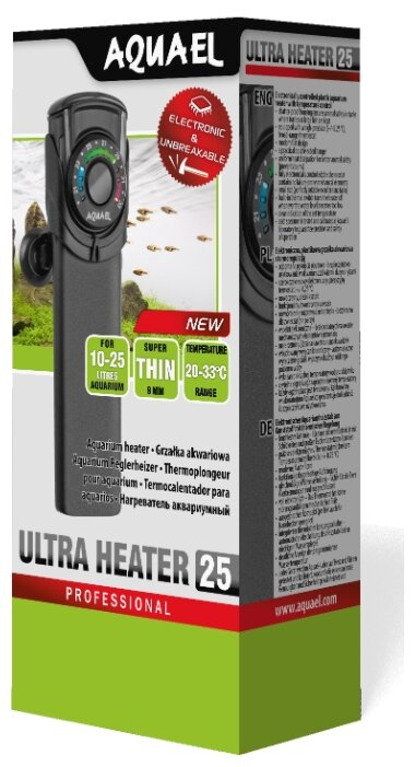 Цилиндрический нагреватель AQUAEL ULTRA HEATER 25W (10-25 л)