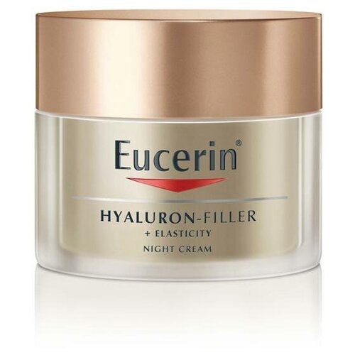 Eucerin Hyaluron-Filler + Elasticity Антивозрастной ночной крем для более упругой кожи лица, 50 мл крем nivea hyaluron cellular filler ночной 50 мл