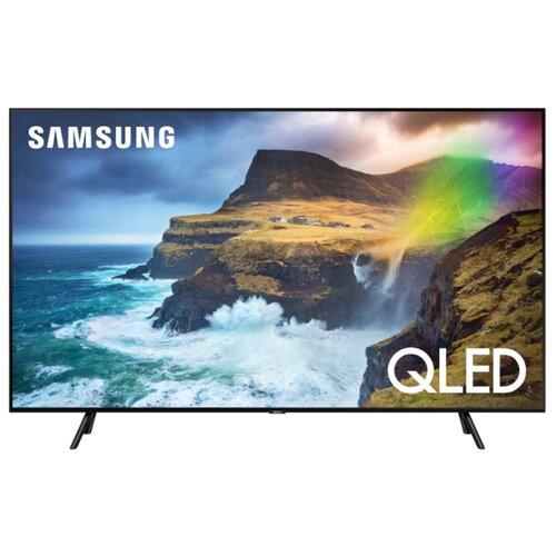 Фото - Телевизор QLED Samsung QE55Q77RAU 55 (2019) черный графит телевизор qled samsung qe49q77rau 49 2019 черный графит