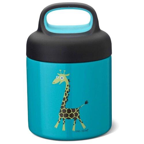 Carl Oscar Термос для еды LunchJar™ Giraffe 0.3л бирюзовый