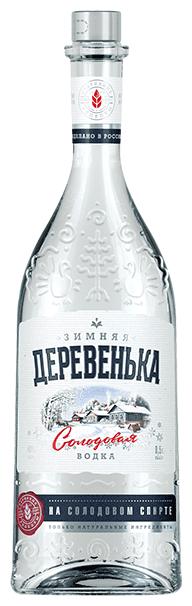 Водка Зимняя Деревенька на солодовом спирте, 0.25 л