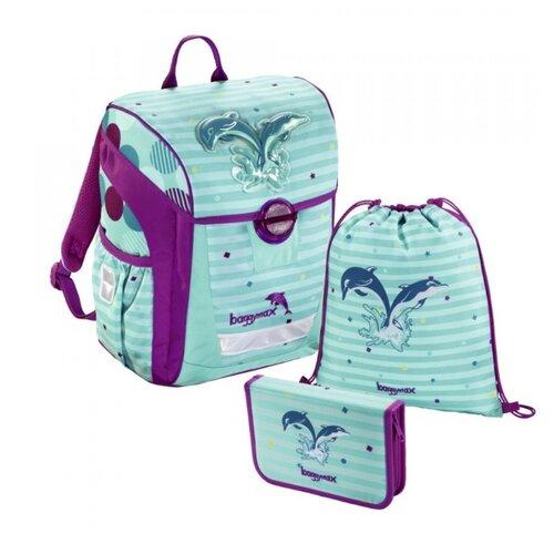 цена на Step By Step Ранец BaggyMax Trikky Dolphin 3 предмета (1047690), голубой