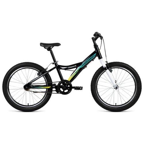 Подростковый горный (MTB) велосипед FORWARD Comanche 20 1.0 (2019) черный 10.5 (требует финальной сборки) подростковый горный mtb велосипед forward dakota 24 1 0 2020 черный 13 требует финальной сборки