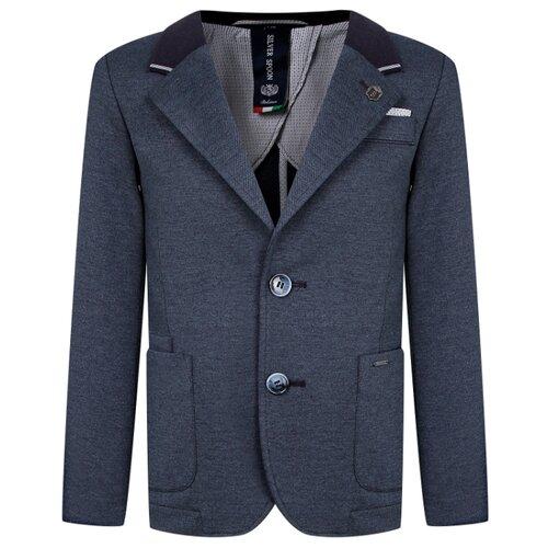 Пиджак Silver Spoon размер 140, синий меланж брюки luminoso размер 140 синий меланж
