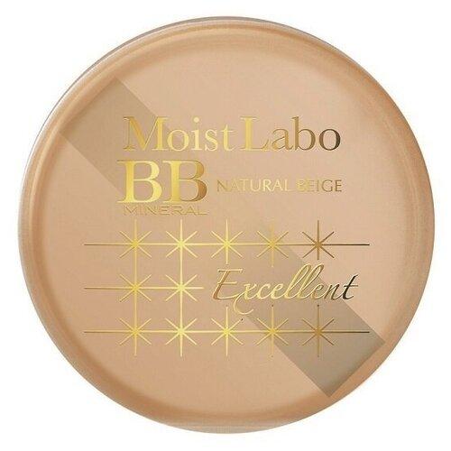 Meishoku Пудра рассыпчатая минеральная Moist Labo BB Mineral SPF50 PA++++ 01 natural beige точечный консилер со спонжем moist labo bb stamp concealer 28г 01 натуральный бежевый