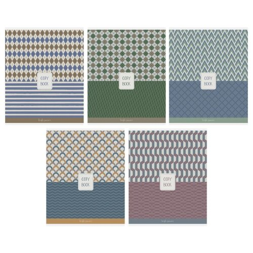 Купить ArtSpace Упаковка тетрадей Узоры. Best pattern, Т48кЭ_24440 10 шт./5 дизайнов, клетка, 48 л., Тетради