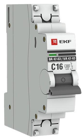 Автоматический выключатель EKF ВА 47-63 1P (С) 4,5kA