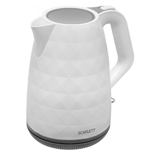 Чайник Scarlett SC-EK18P49, белый/серый чайник электрический scarlett sc ek18p53 1л 1600вт белый серый корпус пластик