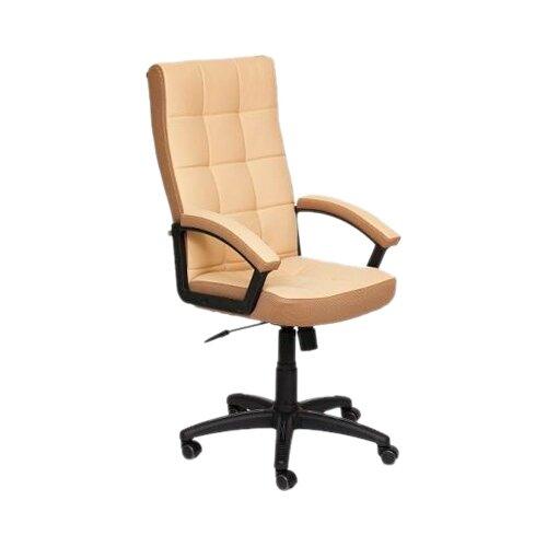 Компьютерное кресло TetChair Тренди для руководителя, обивка: текстиль/искусственная кожа, цвет: бежевый/бронзозый кресло компьютерное tetchair оксфорд oxford доступные цвета обивки искусств корич кожа искусств корич перфор кожа