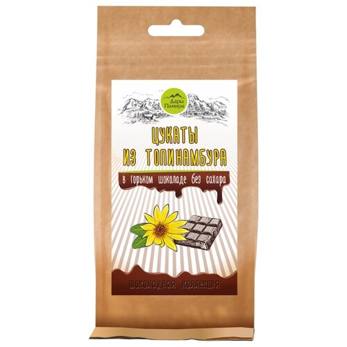 Цукаты Дары Памира из топинамбура в горьком шоколаде без сахара, 100 г