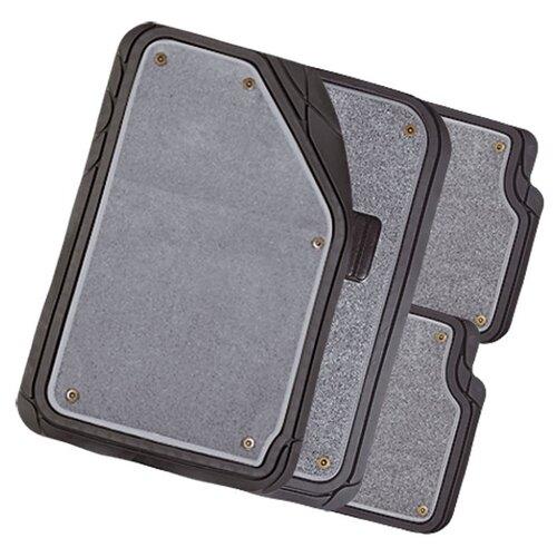 Комплект ковриков AUTOPROFI MAT-420 4 шт. черный/серый