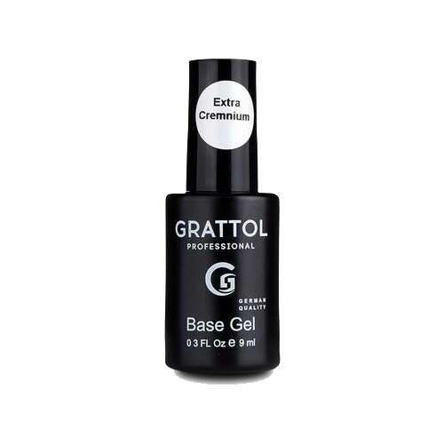 Grattol базовое покрытие Rubber Base Gel EXTRA Cremnium 9 мл прозрачный kodi базовое покрытие lint base gel 35 мл прозрачный