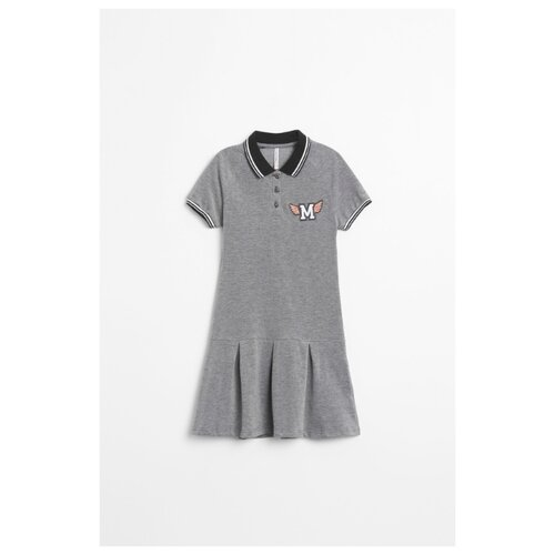Платье COCCODRILLO размер 134, серый