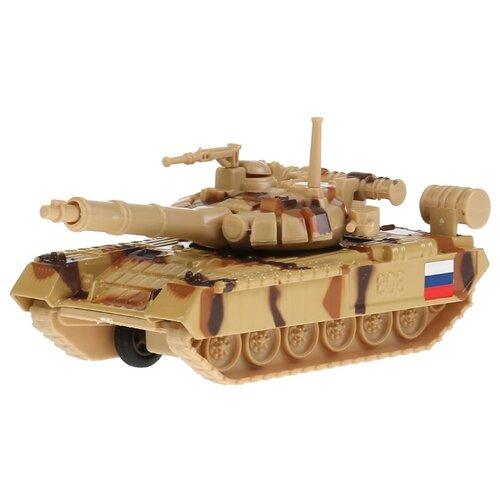 Купить Танк ТЕХНОПАРК Т90 (SB-16-19-T90-S-WB) 12 см бежевый камуфляж, Машинки и техника