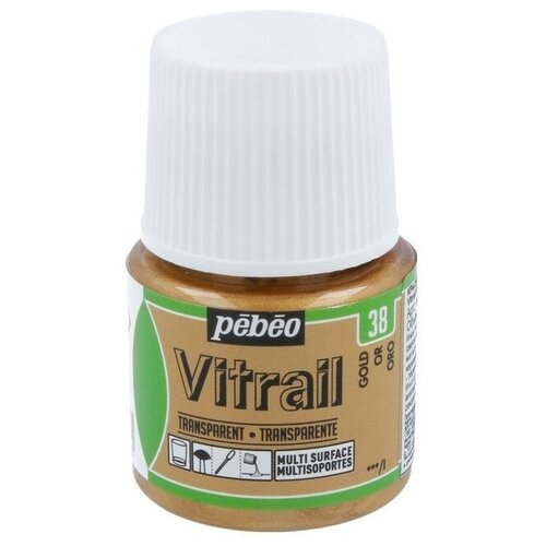 Краски Pebeo Vitrail Золотой 050038 1 цв. (45 мл.)