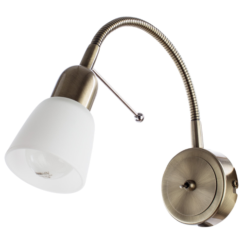 Бра Arte Lamp Lettura A7009AP-1AB, с выключателем, 40 Вт бра светильник настенный arte lamp a7009ap 1ab