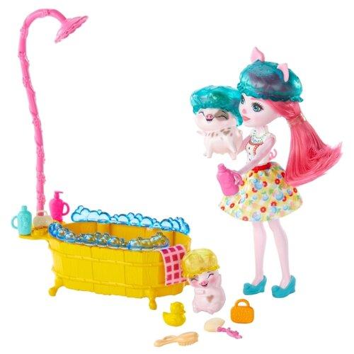 Купить Игровой набор Enchantimals Банный день, GJX35, Куклы и пупсы