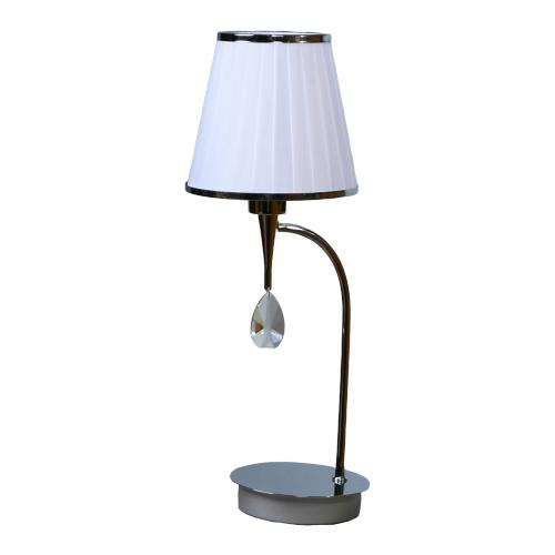 Настольная лампа BRIZZI MA 01625T/001 Chrome, 40 Вт настольная лампа brizzi ma 01625t 001 bronze cream