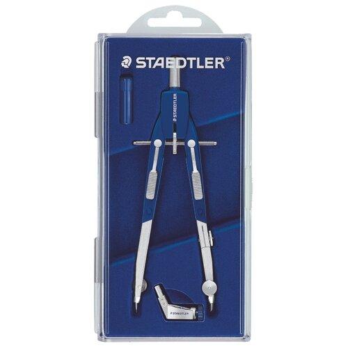 Купить Staedtler Готовальня Mars Comfort 552 3 предмета (552 01) синий/серебристый, Чертежные инструменты