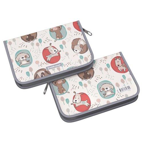 Купить ErichKrause Пенал-книжка Little Dogs (48756) бежевый, Пеналы