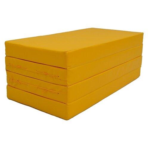 Спортивный мат 2000х1000х100 мм КМС № 5 желтый