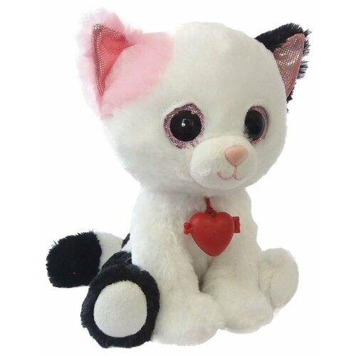 Купить Мягкая игрушка Fancy Белый кот Фенсик с сердечком 22 см, Мягкие игрушки