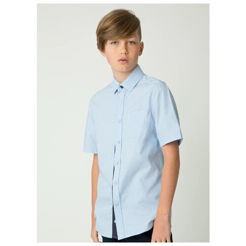 Купить Рубашка Gulliver размер 122, голубой, Рубашки