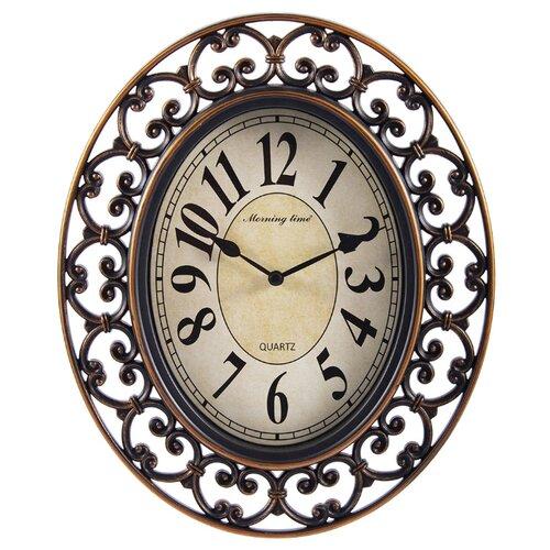 Часы настенные кварцевые Русские подарки 122331/122332 золотистый