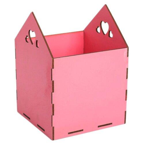 Кашпо Дарите счастье 4093947 15 х 15 х 20.5 см розовый кашпо дарите счастье фантазия 15 х 14 см белый