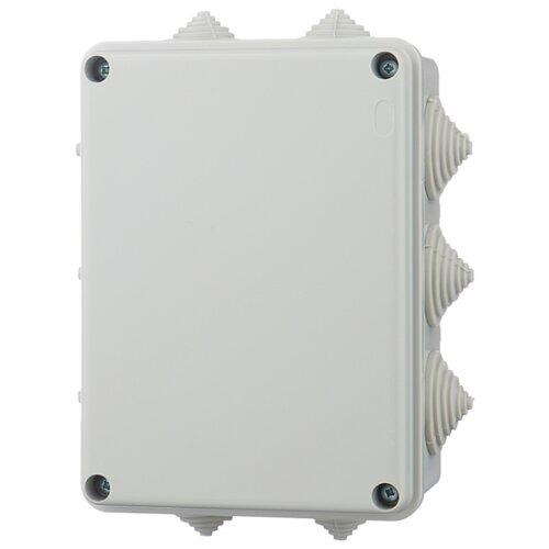 Распределительная коробка IEK KM41241 наружный монтаж 150x110 мм серый RAL 7035