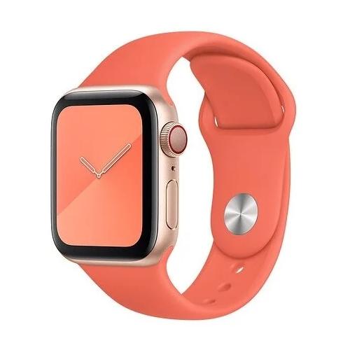 Gurdini Ремешок силиконовый для Apple Watch 38/40mm clementine