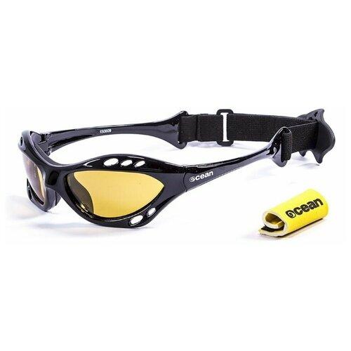 Спортивные очки OCEAN Cumbuco матовые черные / желтые линзы