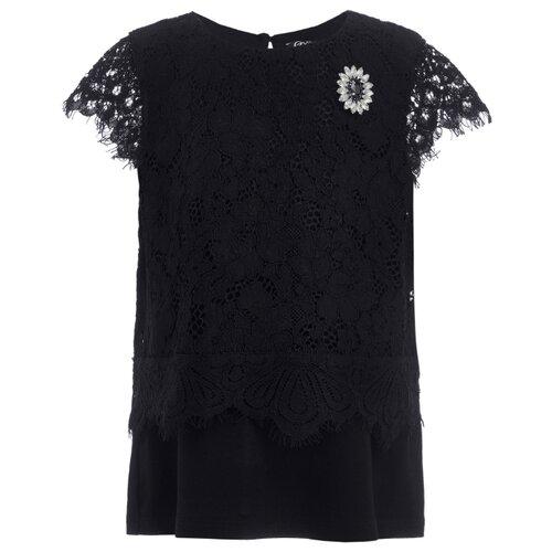 Блузка Gulliver размер 122, черный, Рубашки и блузы  - купить со скидкой