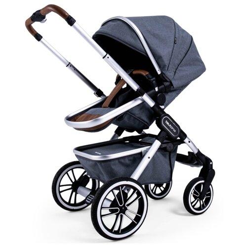 цена на Универсальная коляска Teutonia TRIO (2 в 1) melange grey, цвет шасси: серебристый