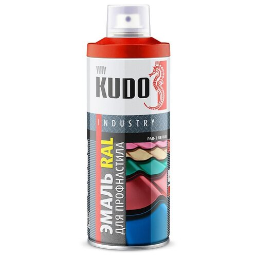 Эмаль KUDO RAL для металлочерепицы и профнастила RAL 6005 зелёный мох 520 мл отлив pe ral 6005 зеленый мох 60х2000 мм