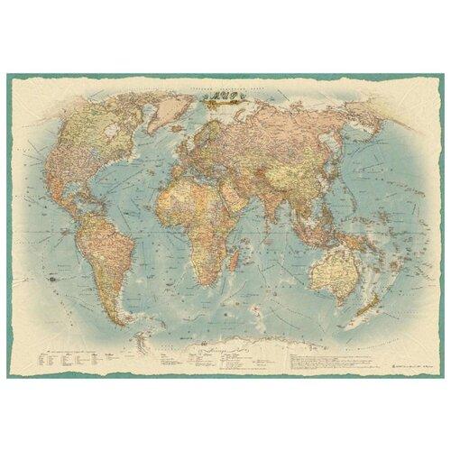Атлас Принт Карта Мира политическая в стиле ретро (4607051071513), 100 × 70 см