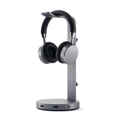 Подставка-хаб Satechi USB-C Headphone Stand для наушников, серый космос