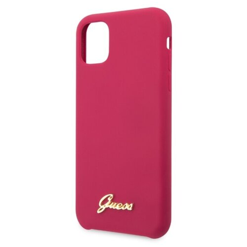 Купить Чехол CG Mobile Guess Silicone collection Gold для Apple iPhone 11 Pro burgundy