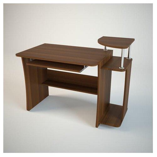 Компьютерный стол Комфортная мебель КС6, ШхГ: 113х60 см, цвет: орех