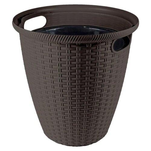 Кашпо InGreen Rattan ING6215, 26.5х27.5 см горький шоколад