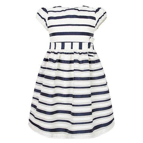 Купить Платье Mayoral размер 92, кремовый/синий/полоска, Платья и юбки