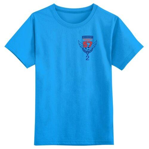 Футболка Printio размер 4XS, голубой
