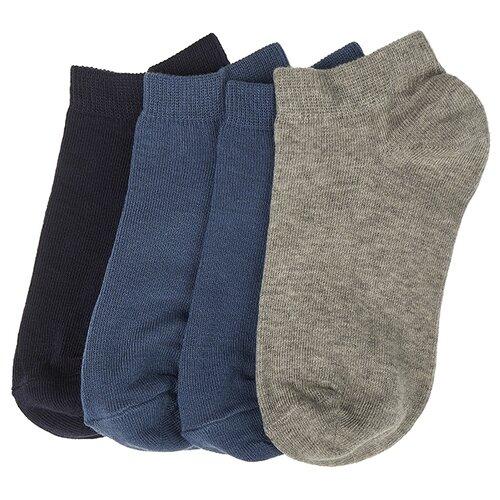 Купить Носки Oldos комплект из 4 пар, размер 23-25, темно-синий/джинс/серый