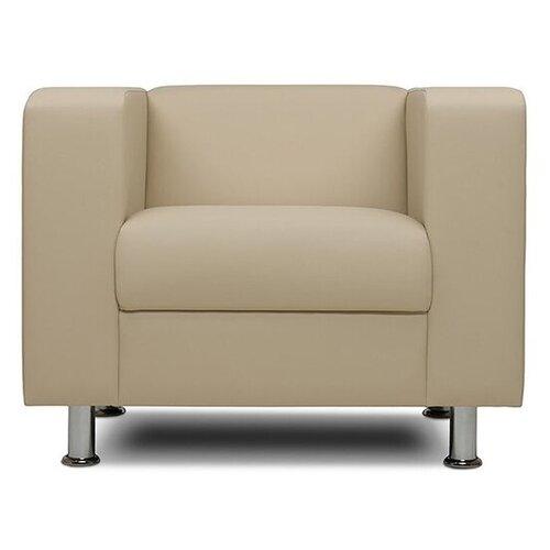 Классическое кресло Шарм-Дизайн Бит размер: 88х75 см, обивка: искусственная кожа, цвет: бежевый