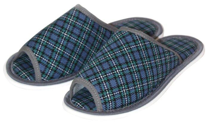 Тапочки ivshoes синий/зеленый 36-37