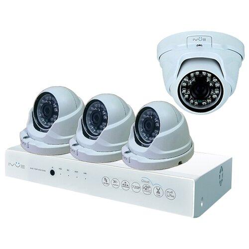 Комплект видеонаблюдения IVUE 1080P-AHC-D4 4 камеры ivue ipc ob40f36 20p