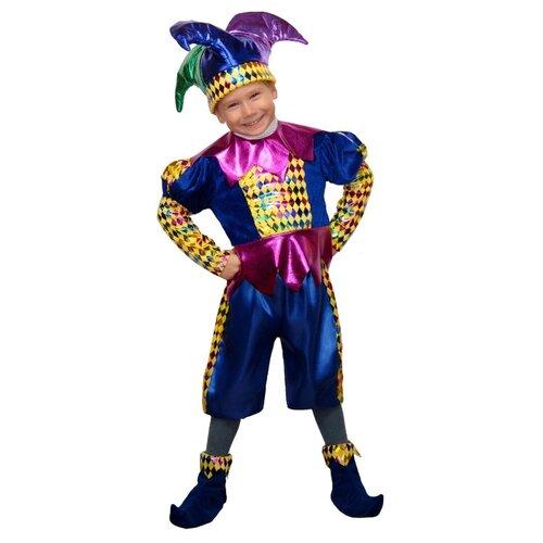 Купить Костюм Elite CLASSIC Королевский шут, синий, размер 28 (116), Карнавальные костюмы