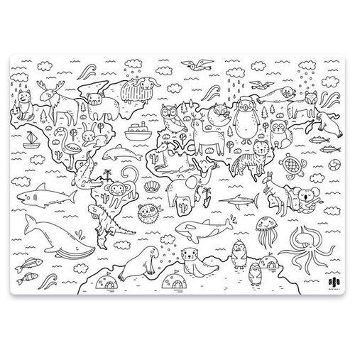Купить Феникс+ Раскраска многоразовая Мир животных, Раскраски