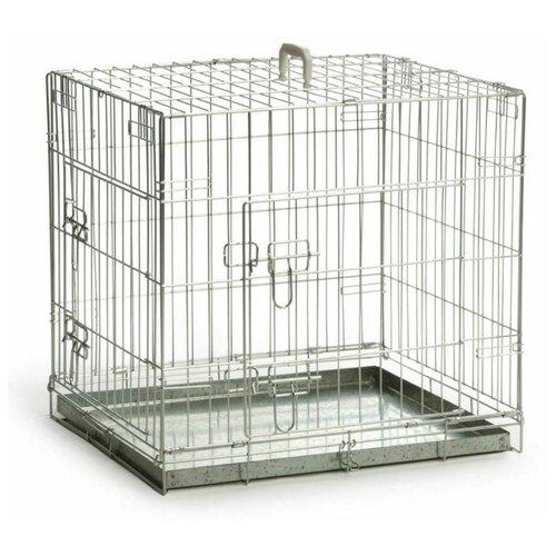 Клетка для собак Beeztees Bench 2-doors, zinc plated 715773 89х60х66 см серый