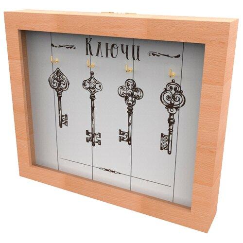 Ключница Дубравия Ключи, 26x22 см натуральный